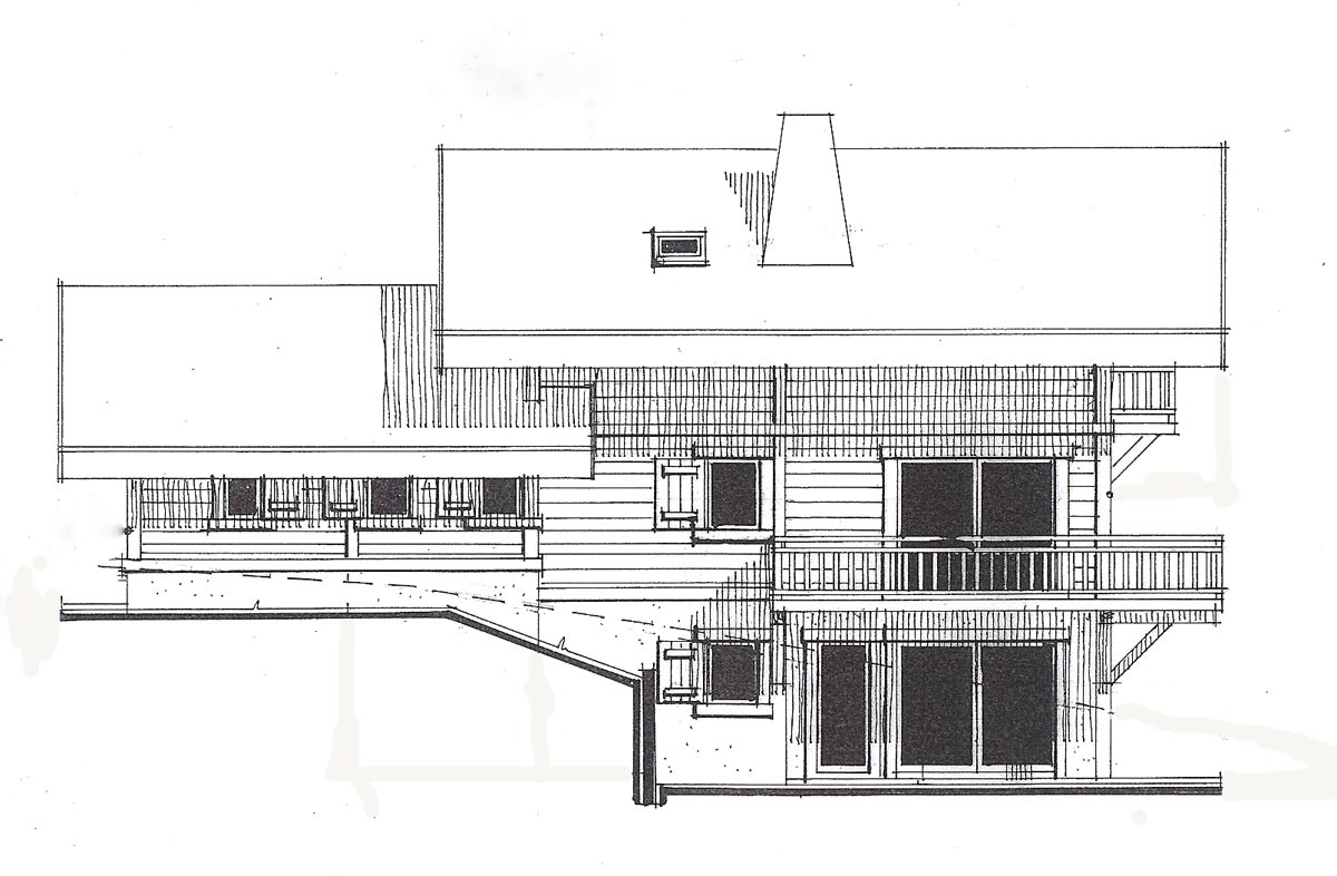 chalet apassion architect plans chalet apassion in samoens architect drawing of east f
