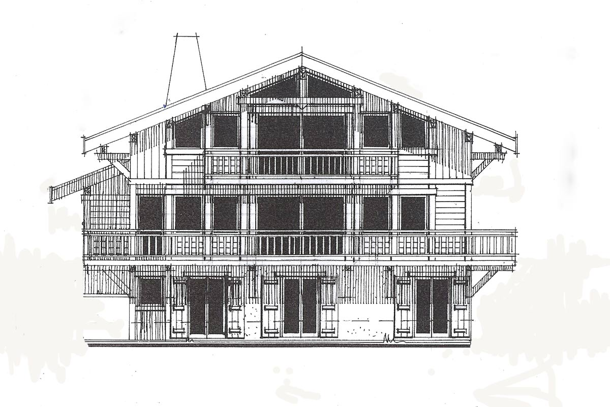 chalet apassion architect plans chalet apassion in samoens architect drawing of rear o